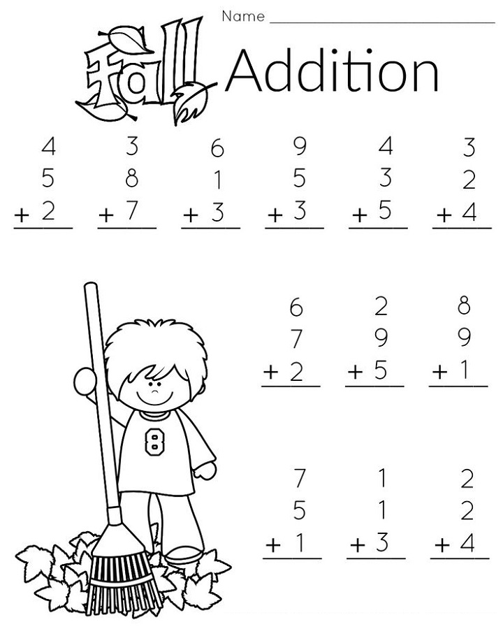 free first grade math worksheets addition