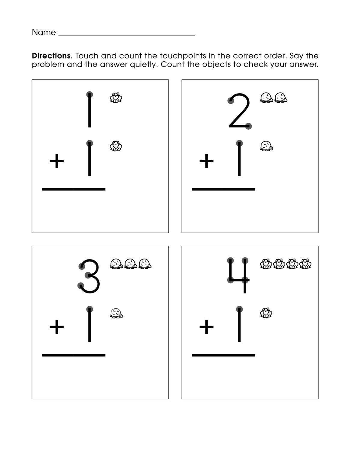 free first grade math worksheets for kids