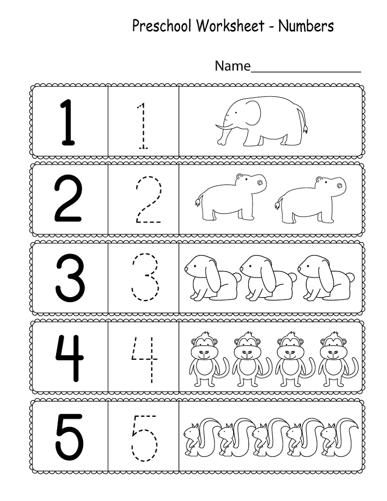 Number Worksheets For Kindergarten : Kindergarten worksheets by numbers best