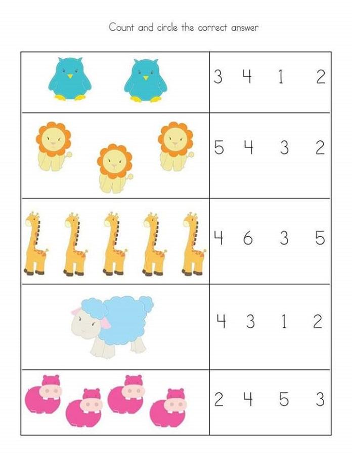 free math worksheet