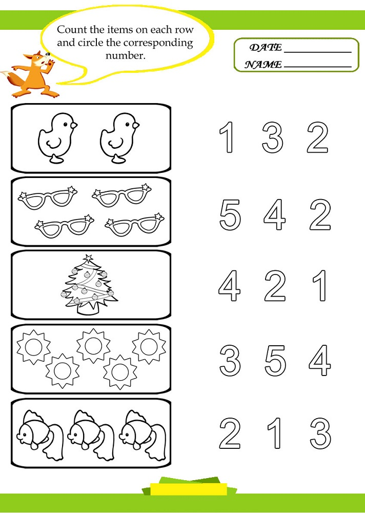 free preschool worksheets counting