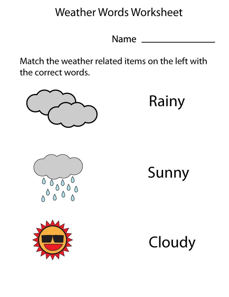 free preschool worksheets matching