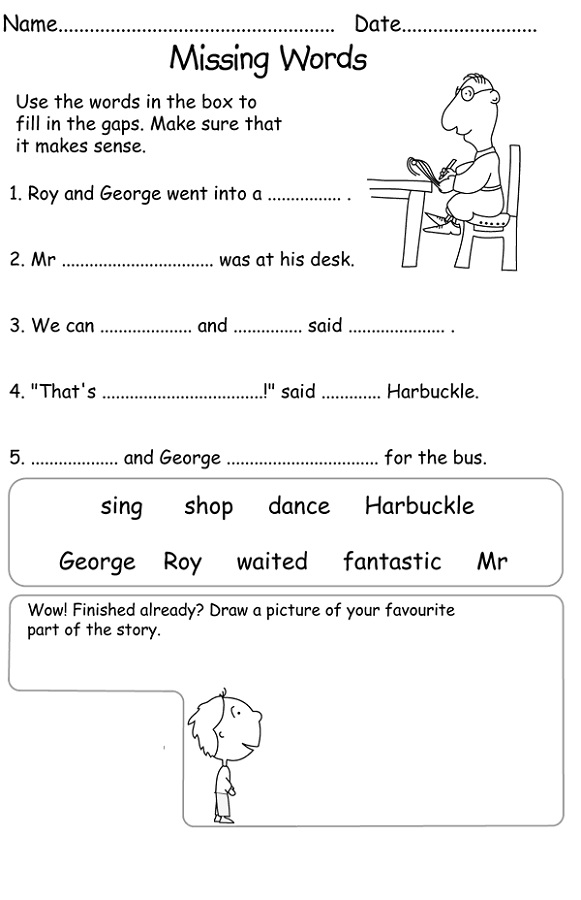 free printable literacy worksheets easy