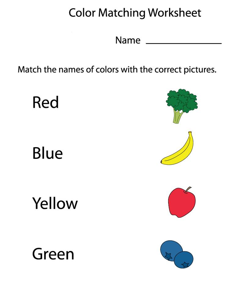 free printable preschool worksheets color
