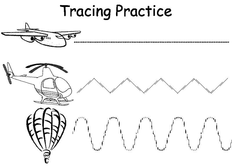 free printable preschool worksheets trace