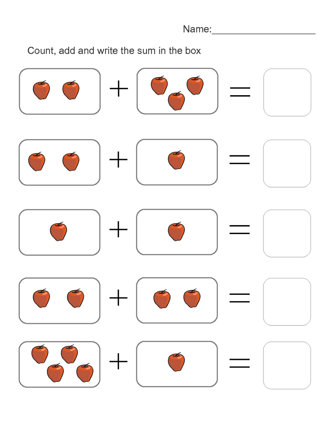 free worksheets for kids counting