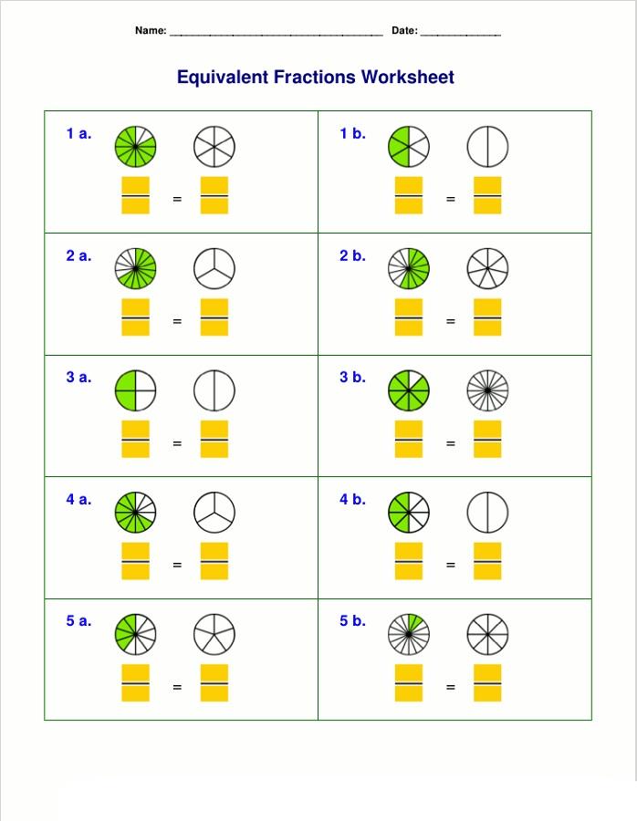 homeschool worksheets fraction