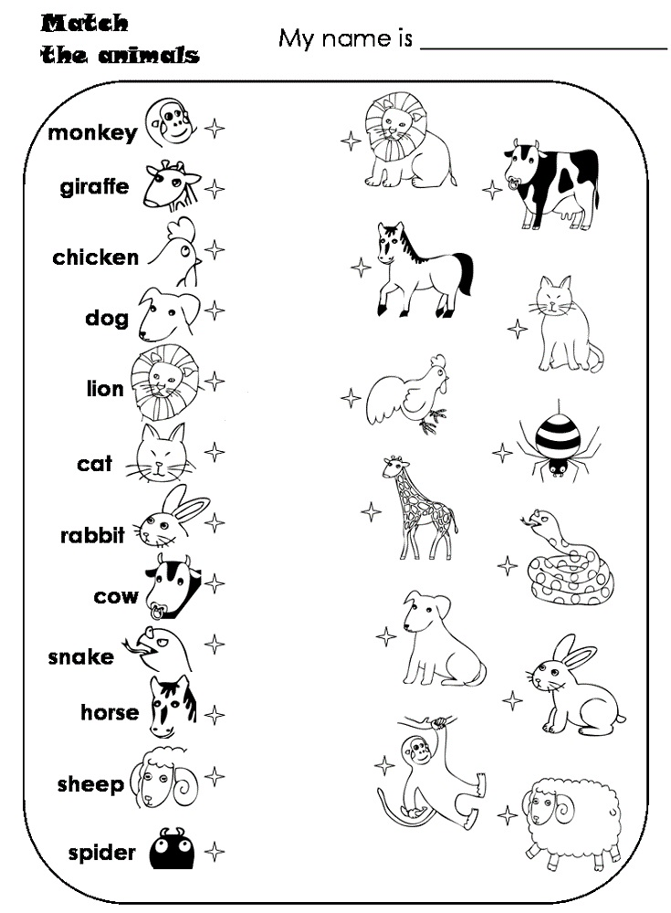 kids activity sheets animal