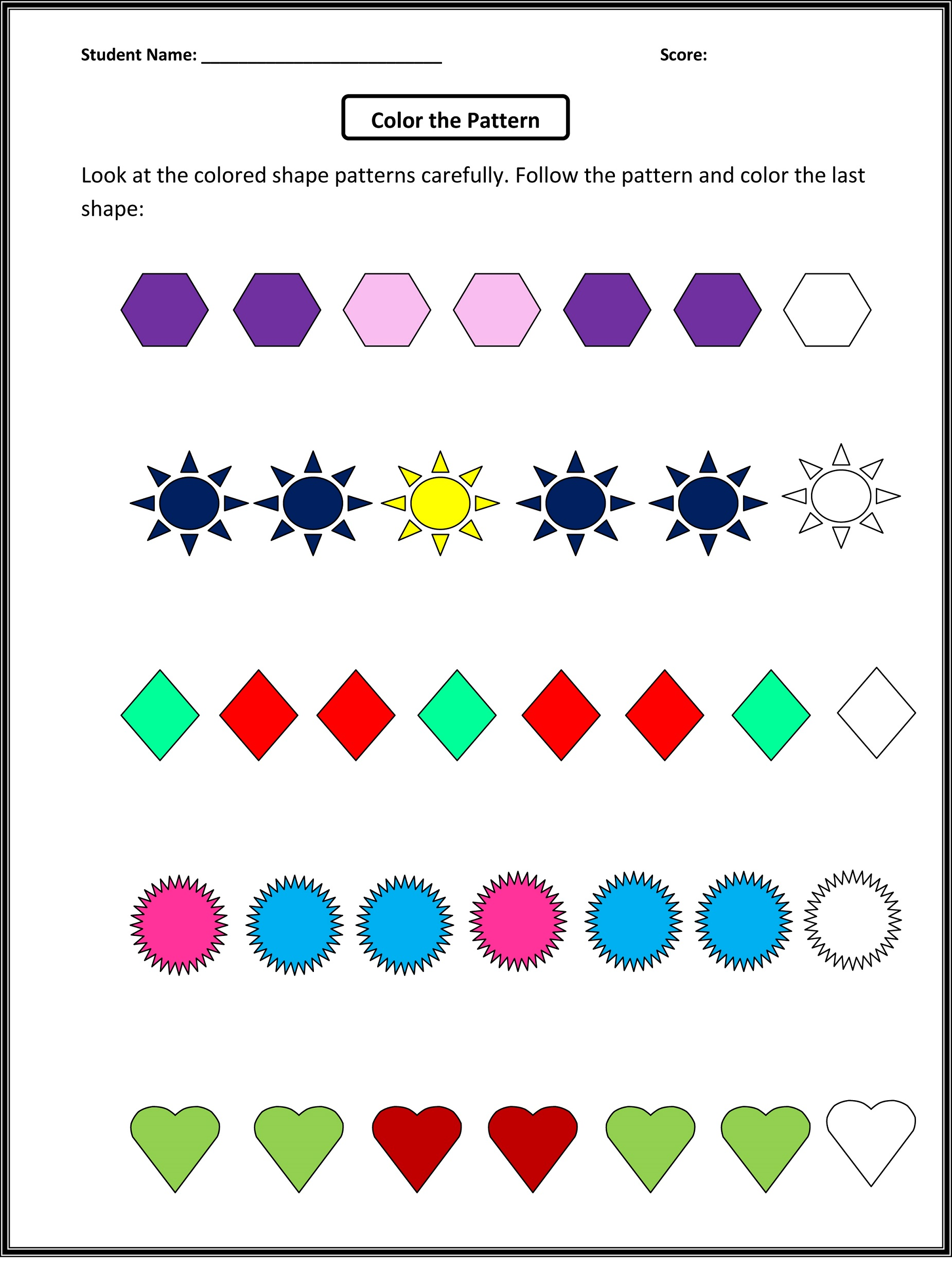 kids activity sheets printable