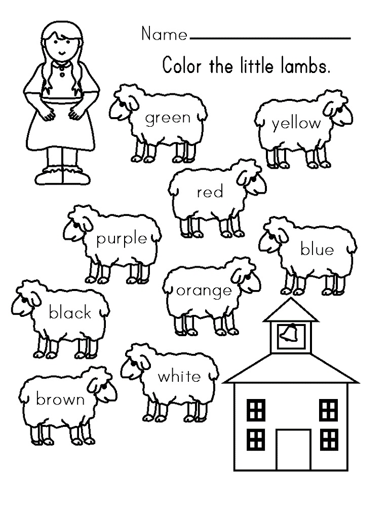 printable worksheets coloring