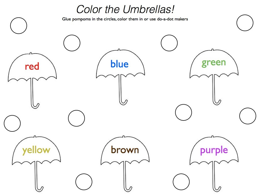 Toddlers Learning Printables