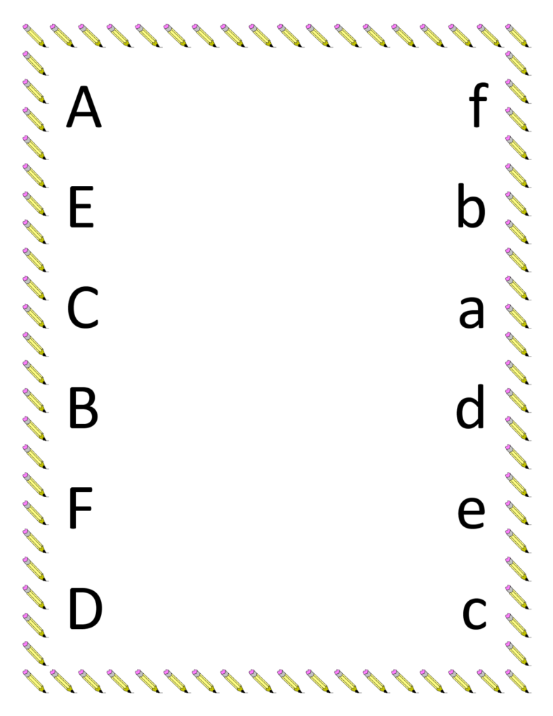 worksheet for nursery alphabet