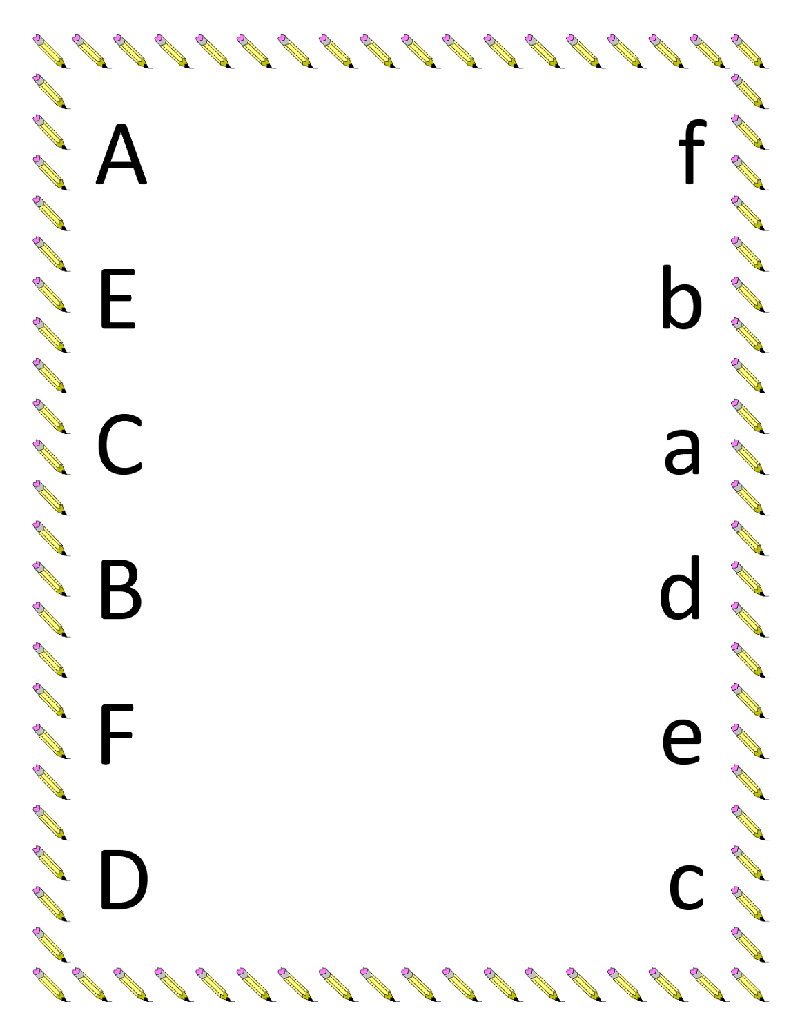 worksheet for nursery alphabet