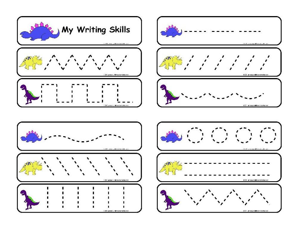 worksheet for nursery trace