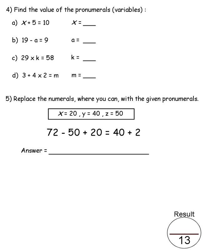 year 7 maths worksheets printable