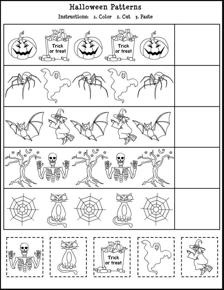 free educational worksheets pattern
