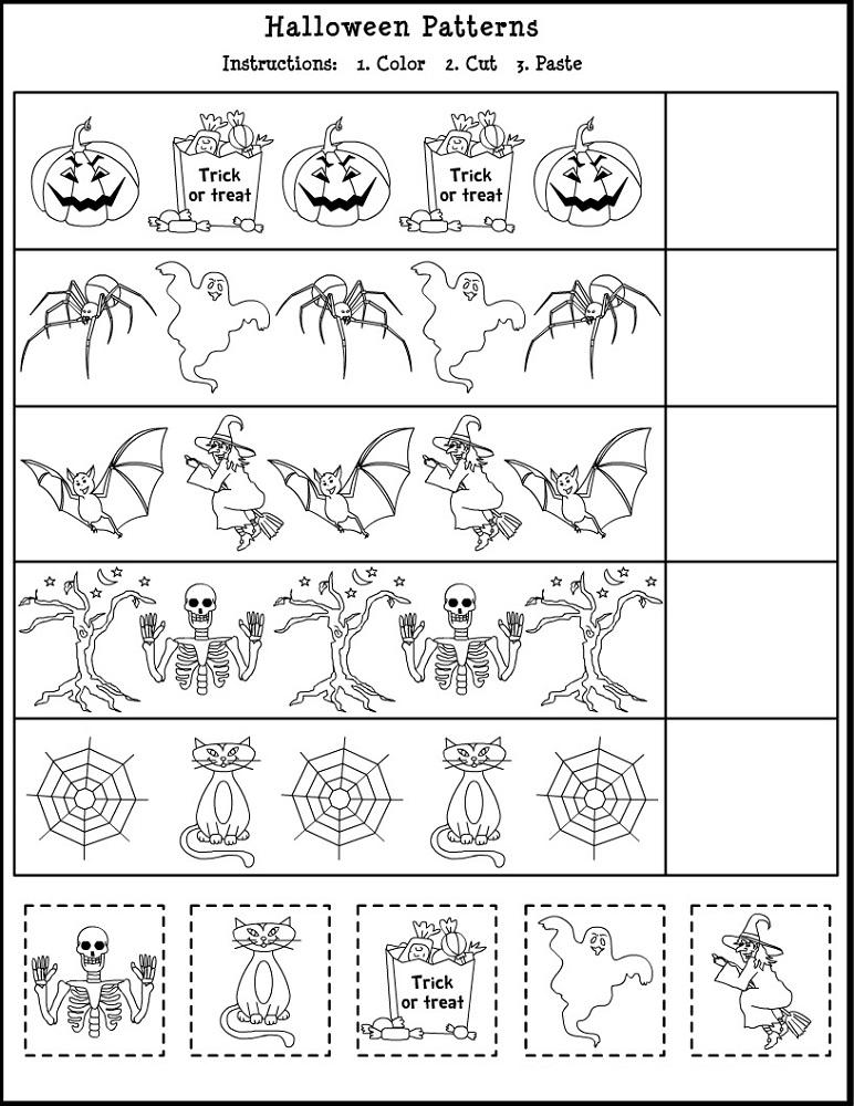 free educational worksheets pattern