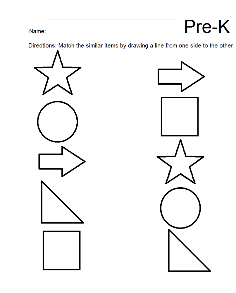 free homeschool printable worksheets shape
