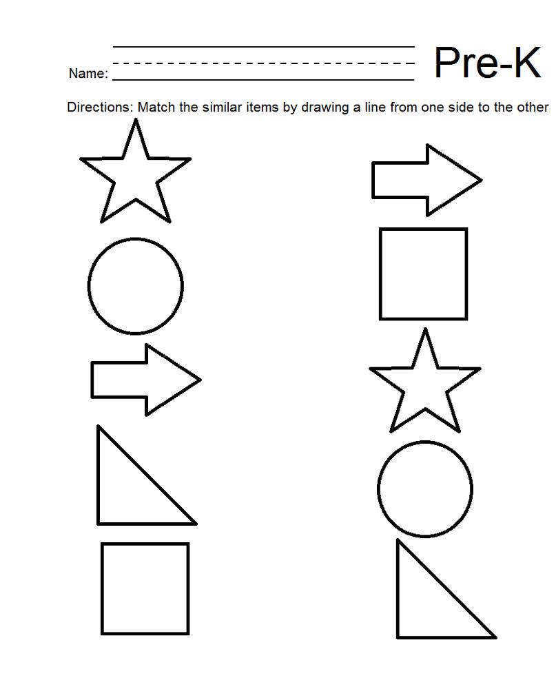 free homeschool printable worksheets shape