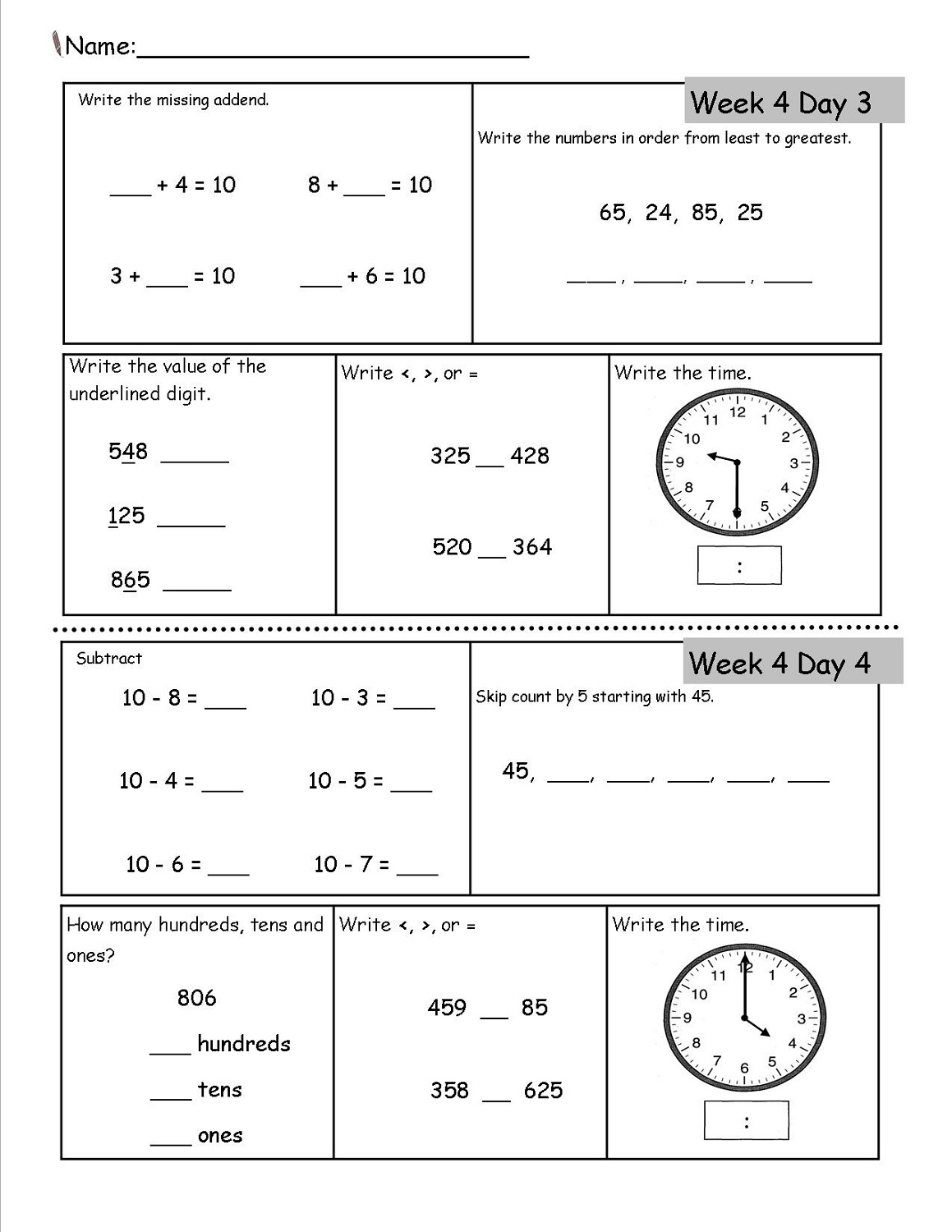 free homeschool worksheets 2nd grade