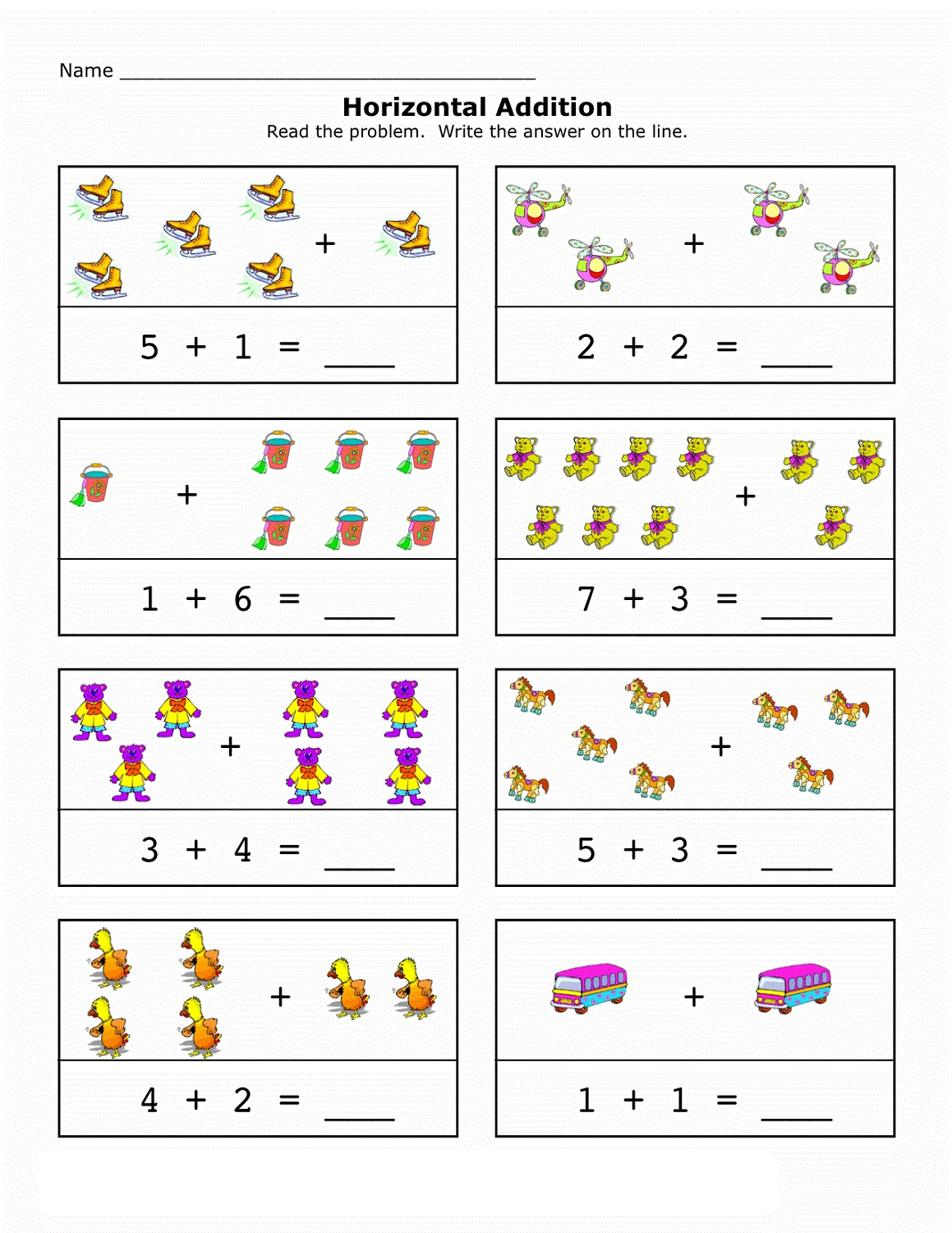 free math printables sheet