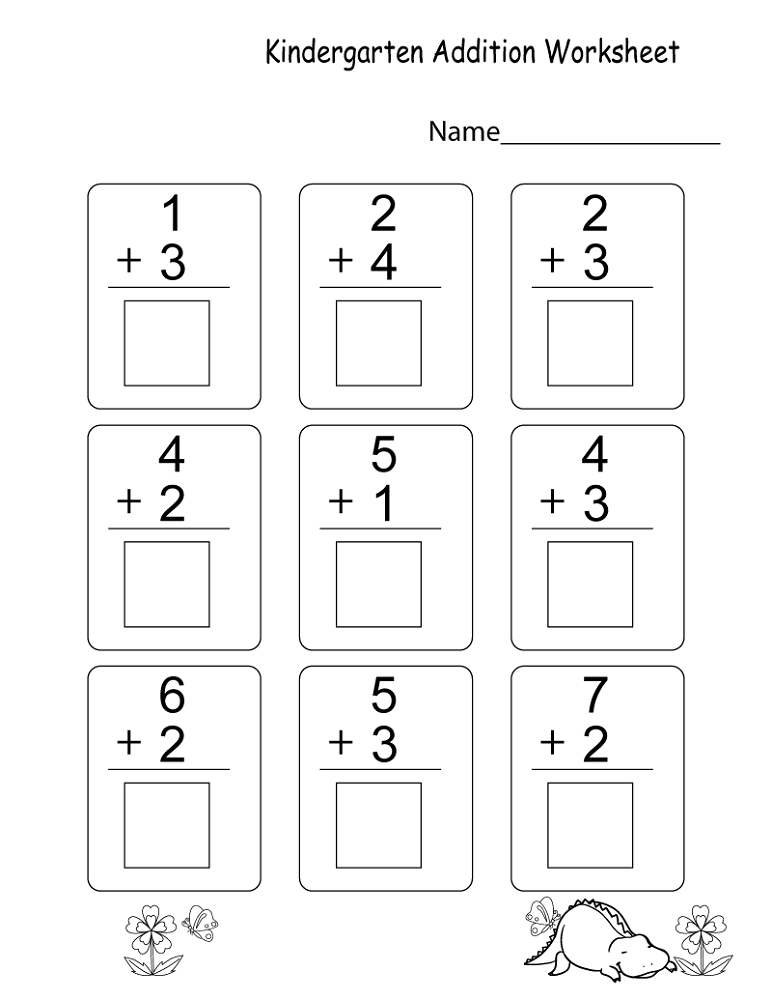 free math worksheets for kids addition