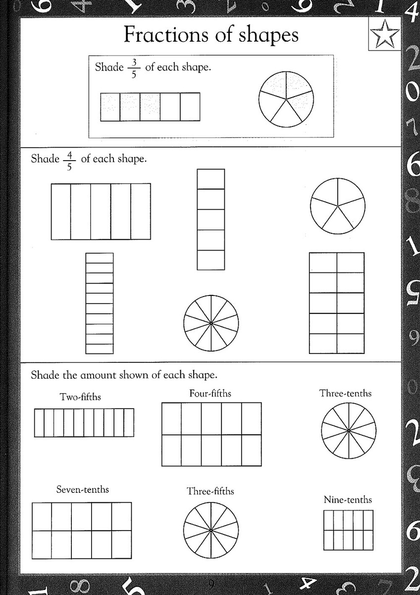 free printable maths worksheets ks2 fraction
