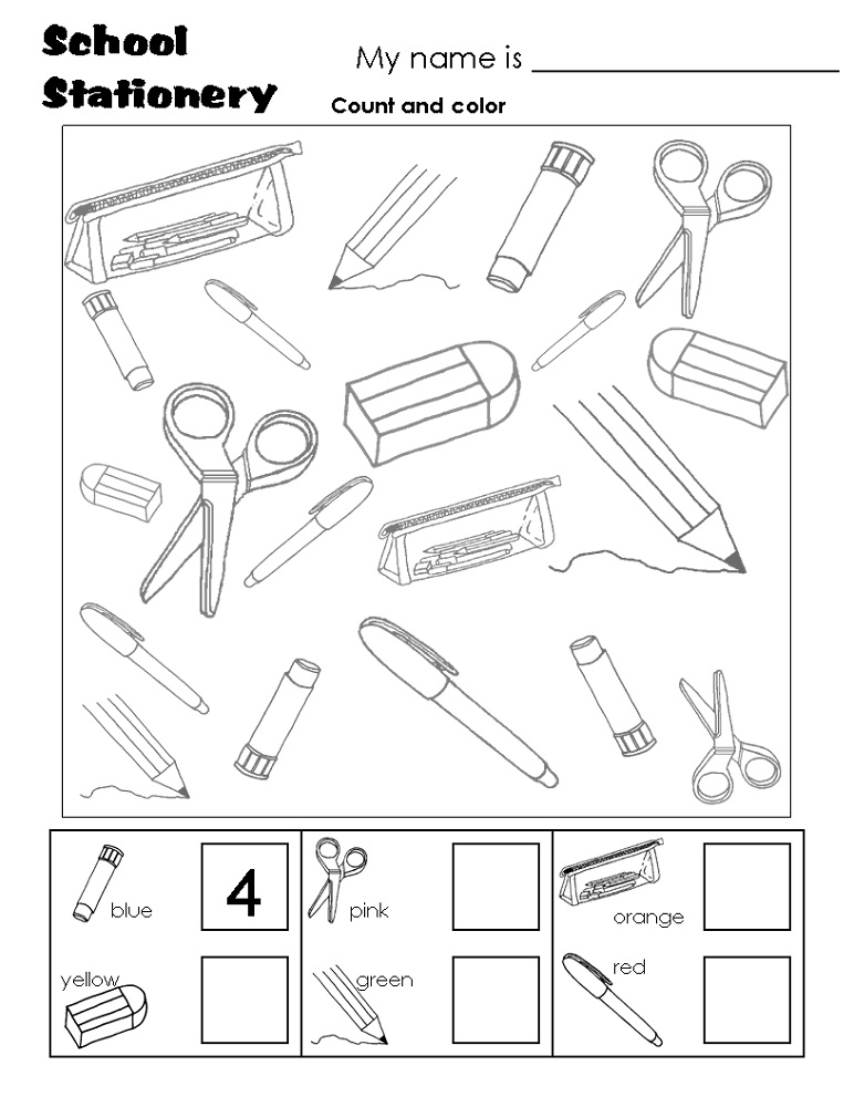 free school worksheets coloring