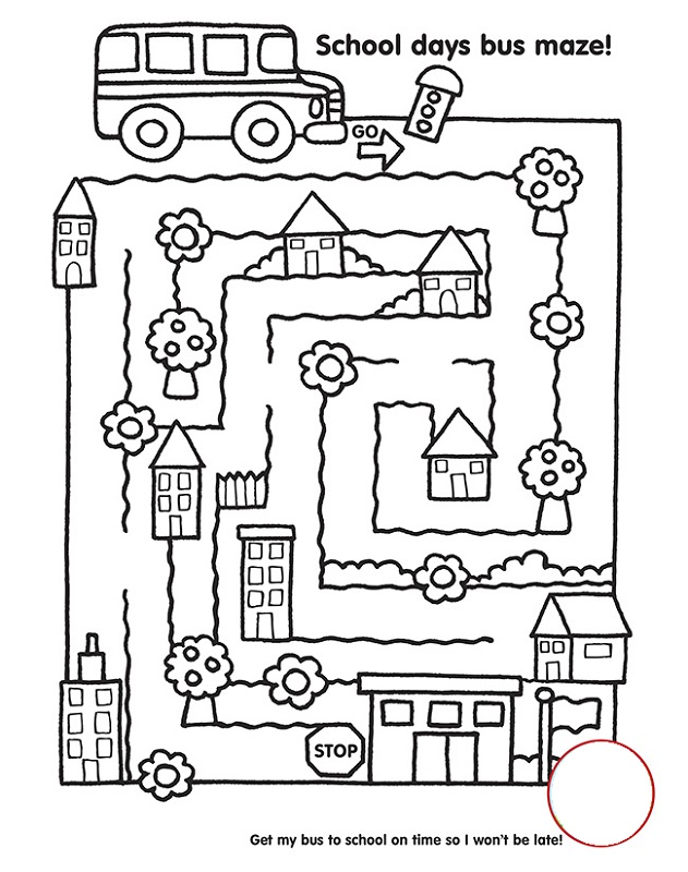 free school worksheets maze