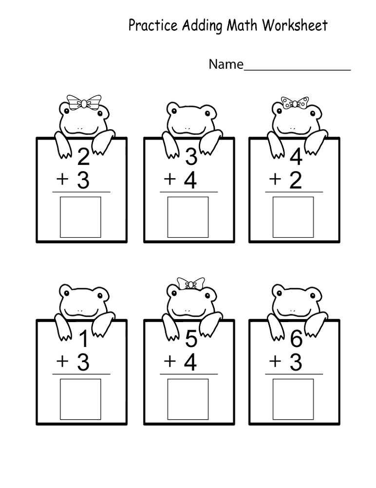 maths sums for kids printable