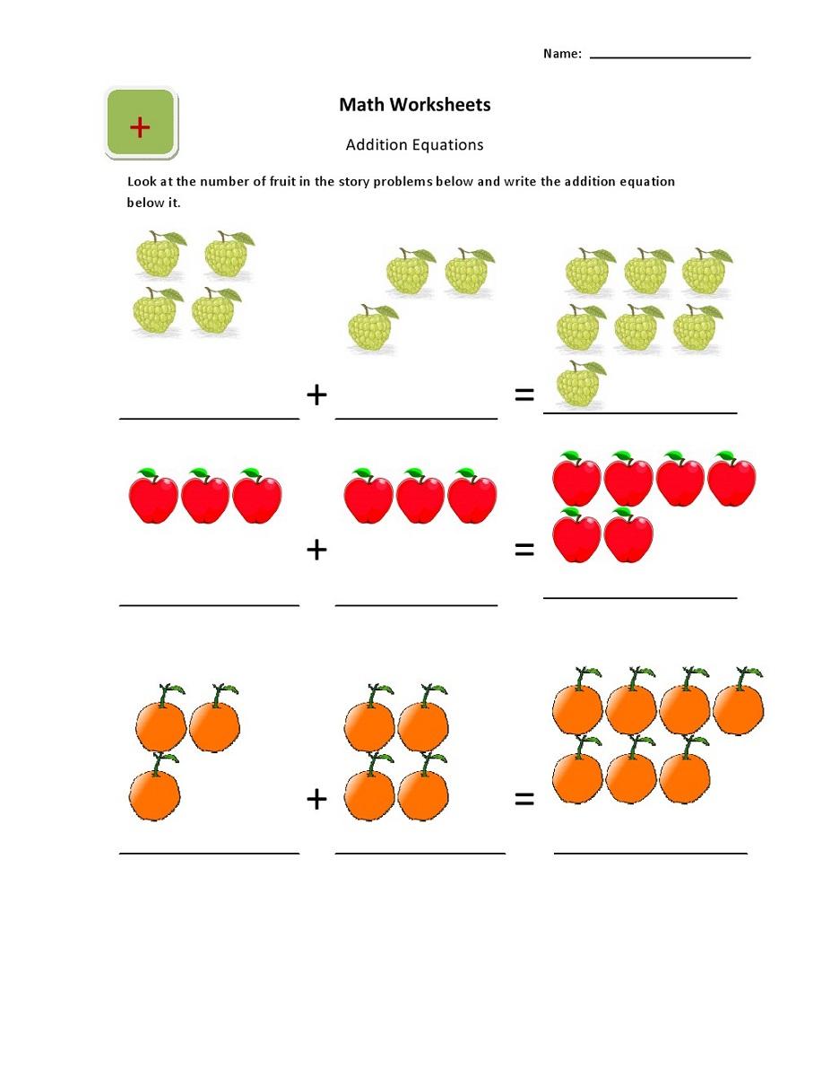maths sums for kids worksheet