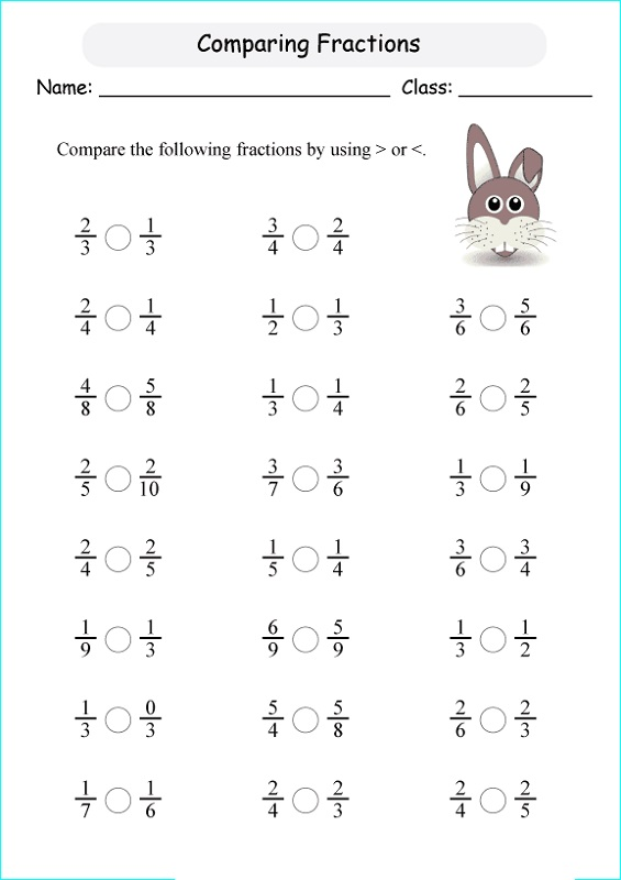 primary 4 maths worksheets fraction