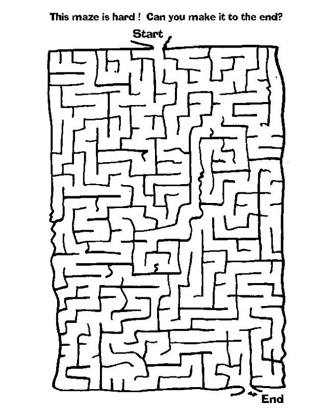 children's activity sheets to print maze