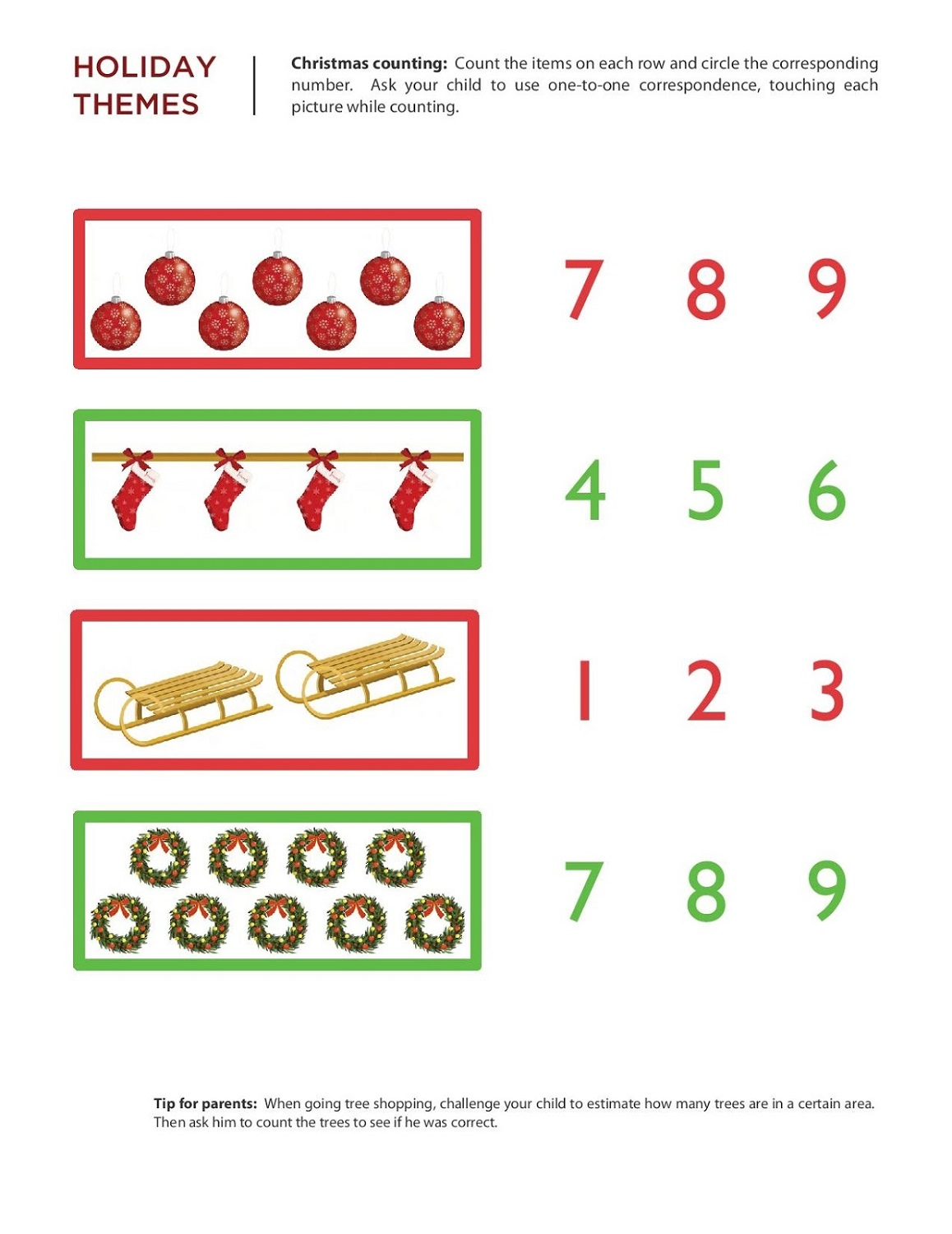 free numeracy worksheets kindergarten