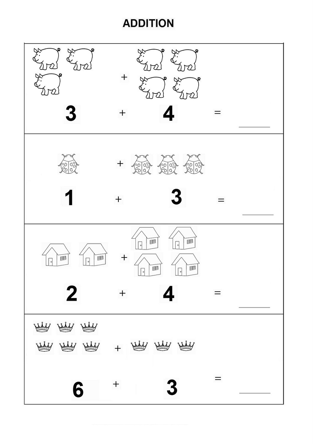 Free Printable Basic Math Worksheets | Activity Shelter