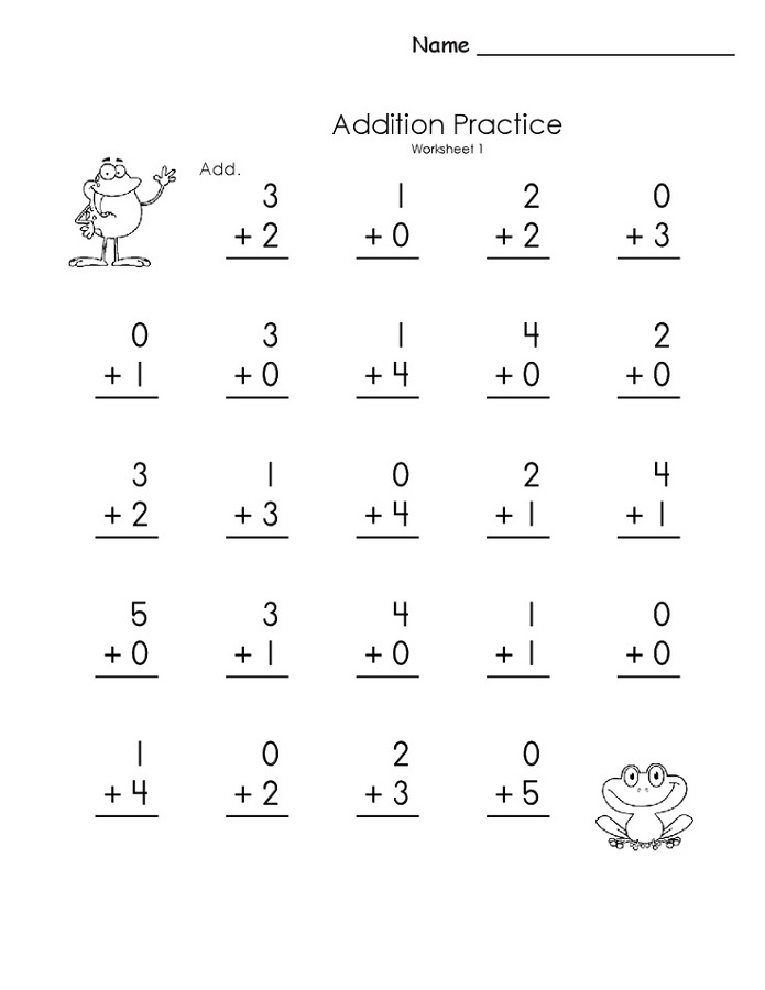free printable basic math worksheets kindergarten
