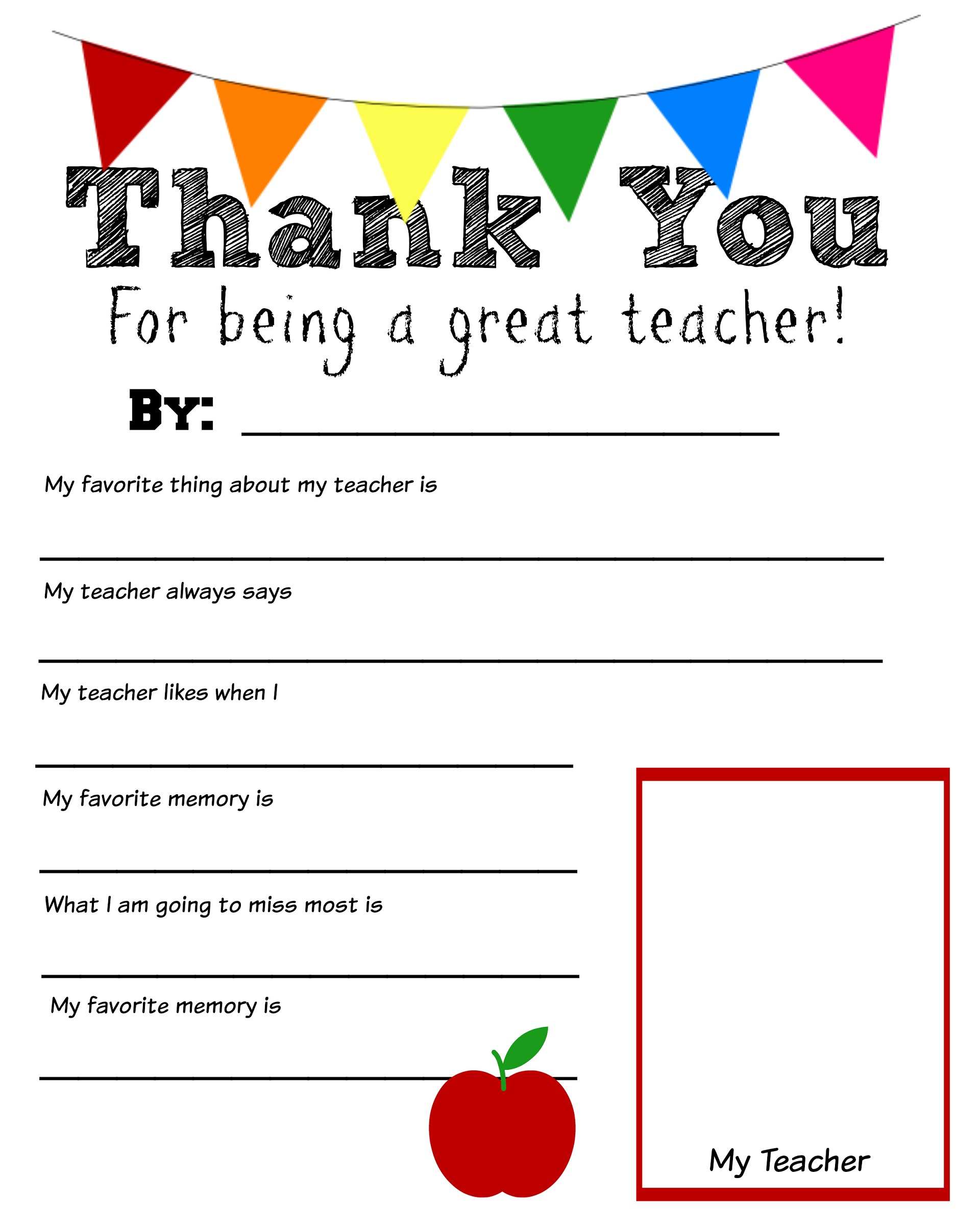 Free Printables for Teachers | Activity Shelter