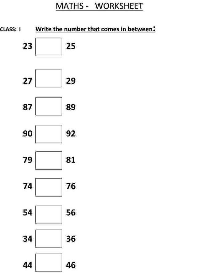 mathematics printable worksheets free