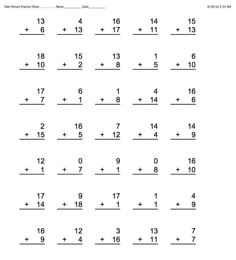 maths online worksheets printable