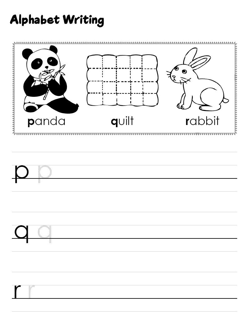 alphabet practice worksheets fun