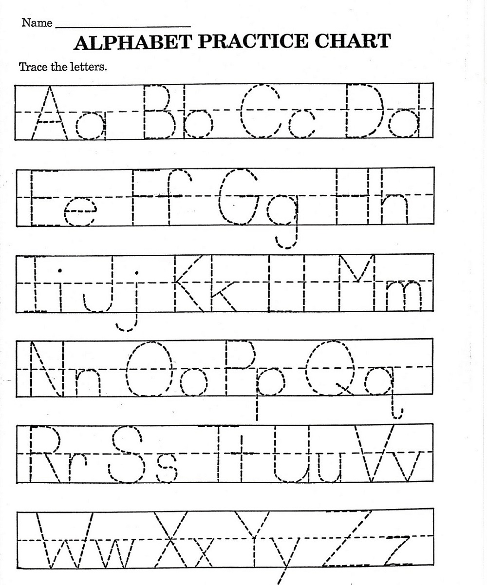 alphabet practice worksheets page