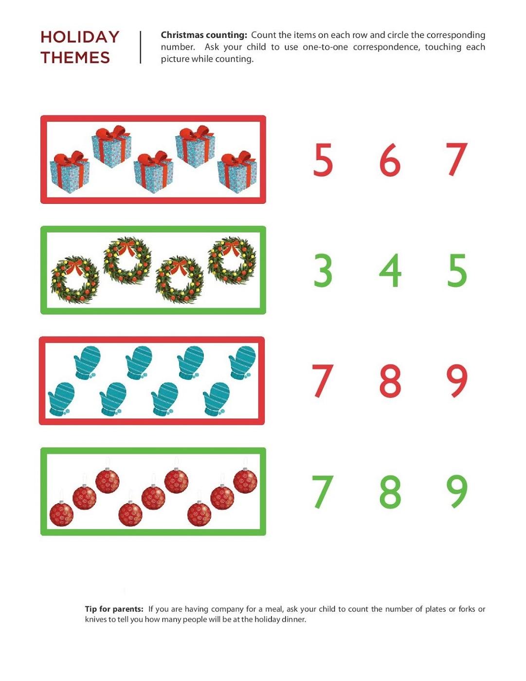 free math printouts counting