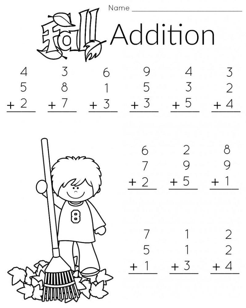 free math printouts preschool