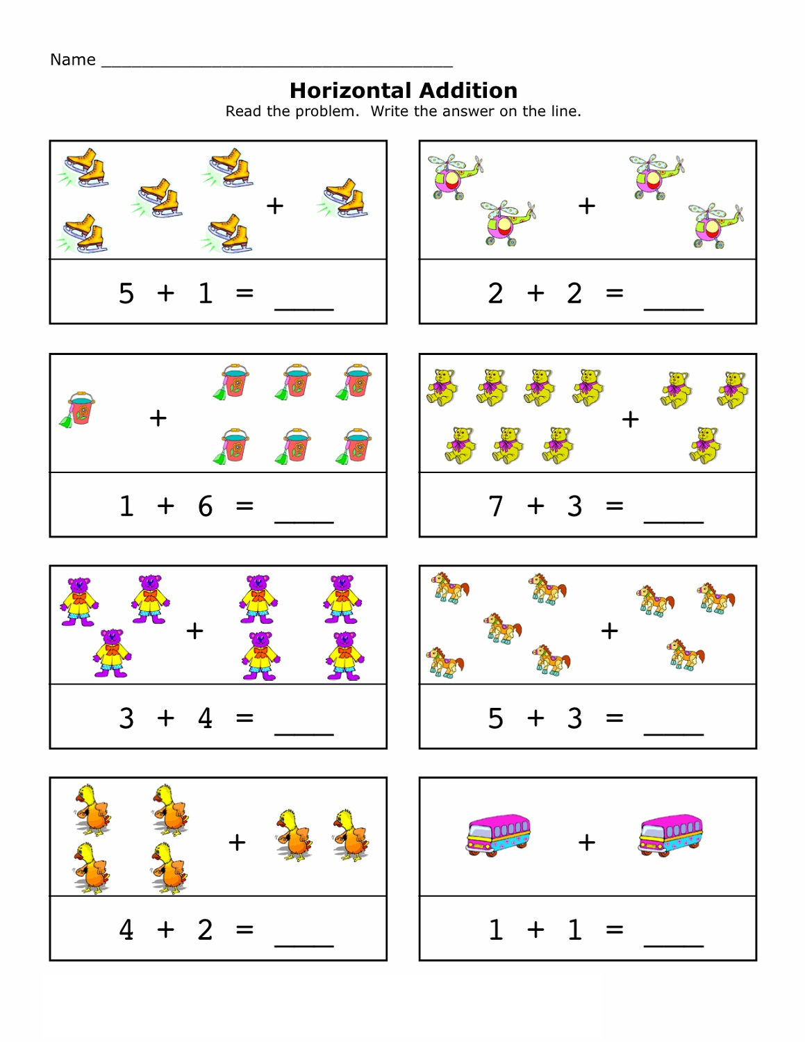 free mathematics worksheets with picture