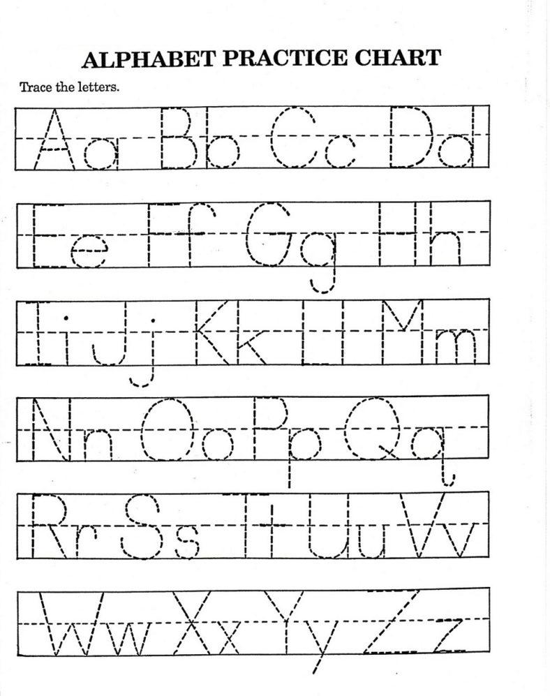traceable alphabet worksheets a-z activity