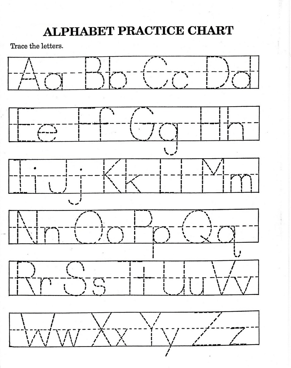 traceable alphabet worksheets a-z activity