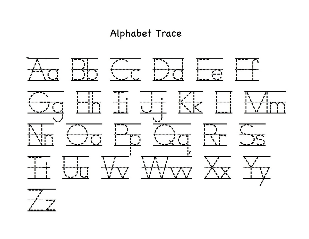 traceable alphabet worksheets a-z for kids