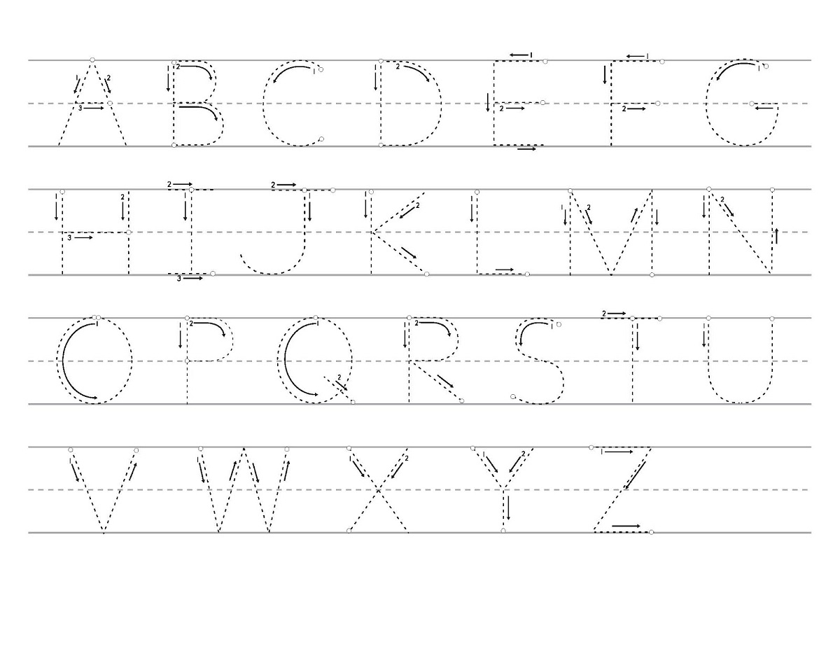 traceable alphabet worksheets a-z printable