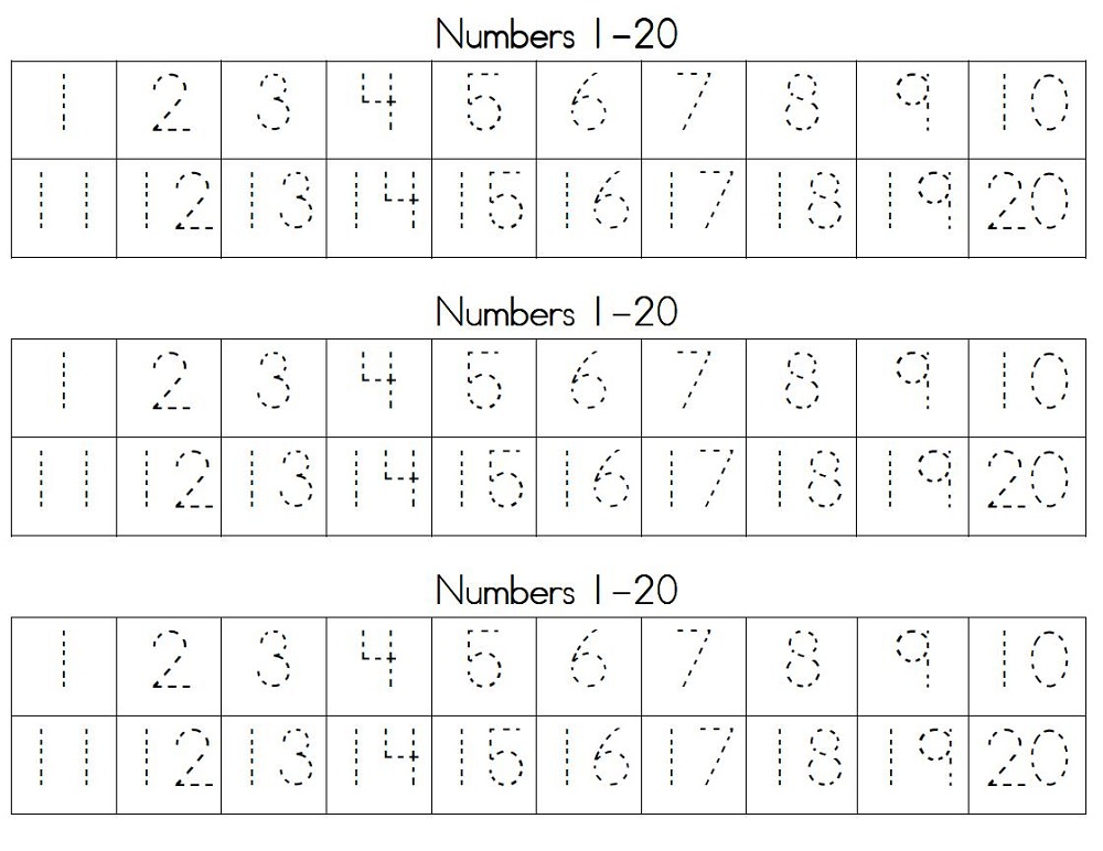 traceable numbers worksheets activity