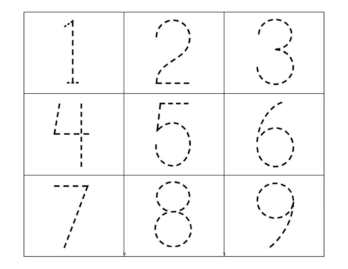 Traceable Numbers Worksheets Activity Shelter